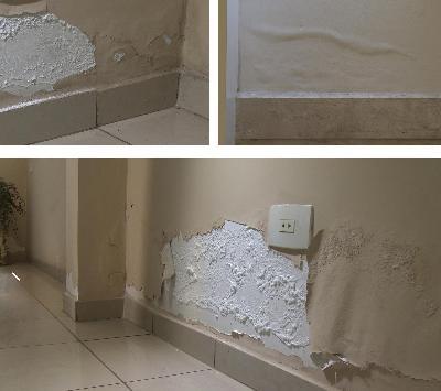 Consertar parede com umidade
