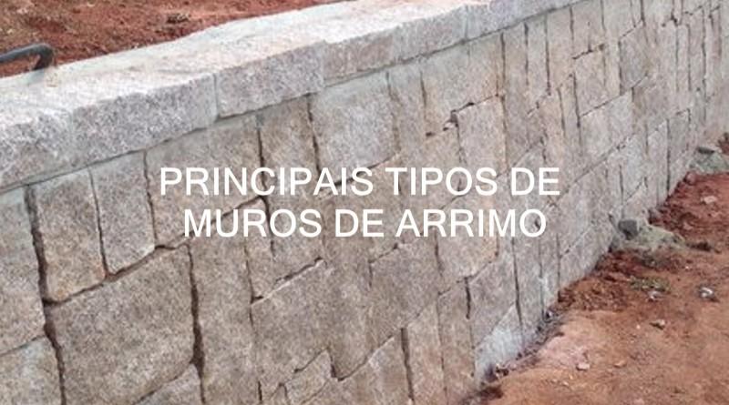 Muro de arrimo ou muro de sustentação